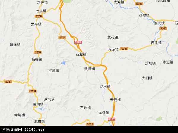 中国广东省清远市清新区石潭镇地图(卫星地图)