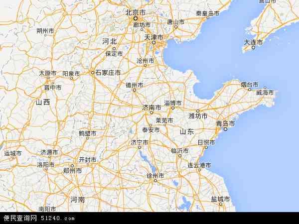 中国山东省地图(卫星地图)