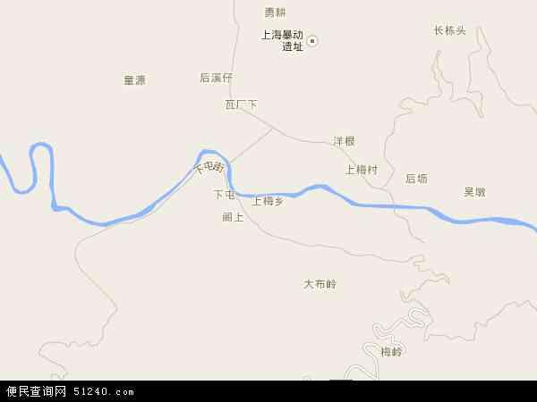 中国福建省南平市武夷山市上梅乡地图(卫星地图)