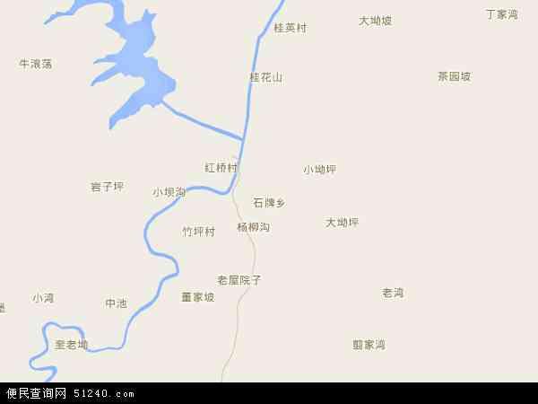 石牌镇地图 - 石牌镇电子地图 - 石牌镇高清地图 - 2017年石牌镇地图