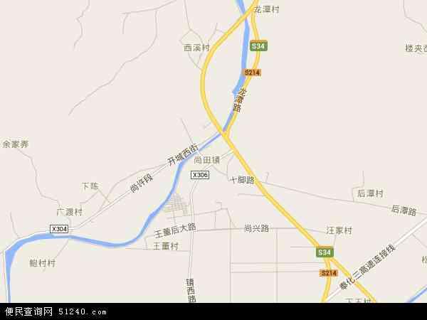 中国浙江省宁波市奉化市尚田镇地图(卫星地图)