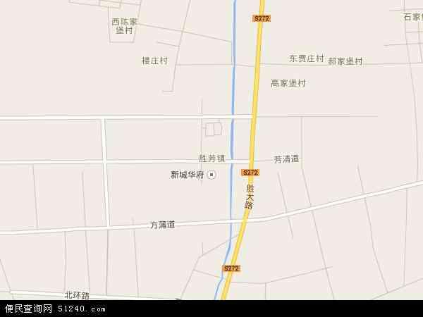 中国河北省廊坊市霸州市胜芳镇地图(卫星地图)