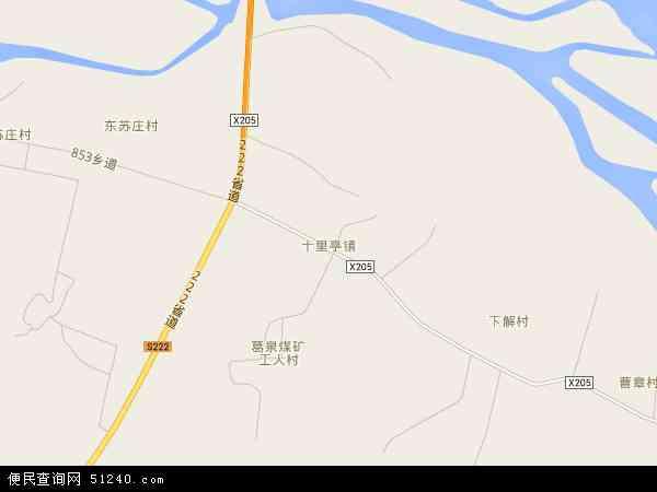 中国河北省邢台市沙河市十里亭镇地图(卫星地图)
