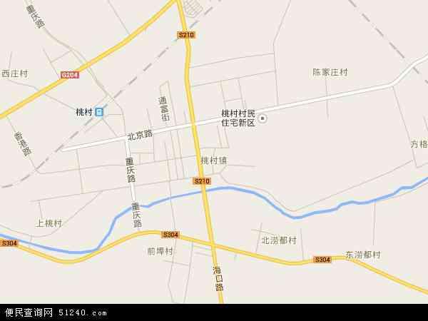 桃村镇地图 - 桃村镇卫星地图