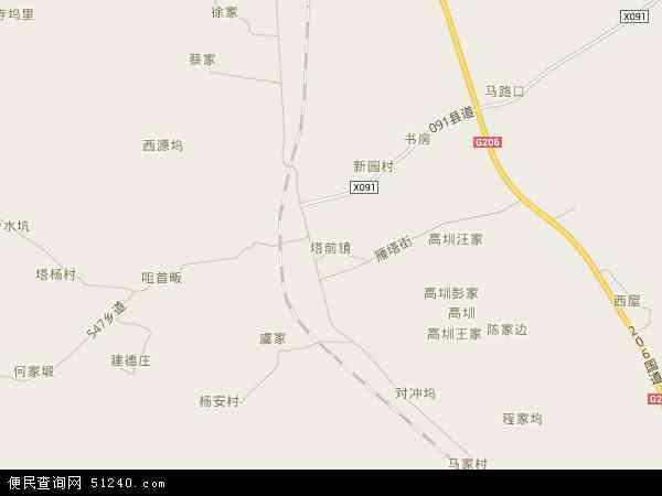 中国江西省景德镇市乐平市塔前镇地图(卫星地图)
