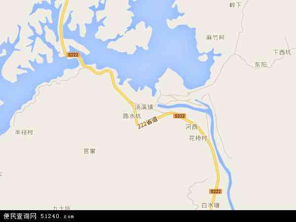 中国广东省潮州市饶平县汤溪镇地图(卫星地图)
