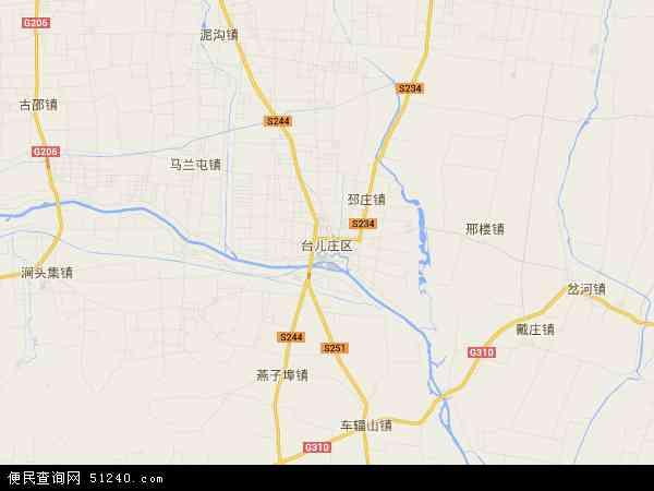 中国山东省枣庄市台儿庄区地图(卫星地图)