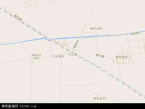 中国河北省廊坊市广阳区万庄镇地图(卫星地图)