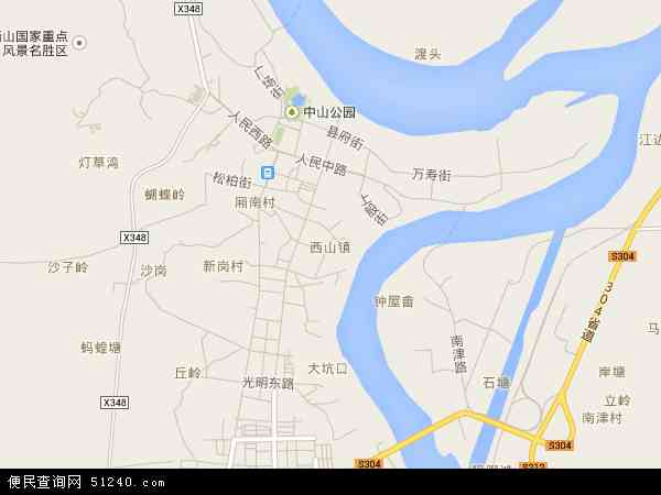 西山镇2017年卫星地图 中国广西壮族自治区贵港市桂平市西山镇地图