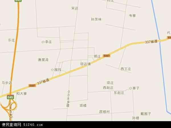 中国河南省信阳市息县项店镇地图(卫星地图)
