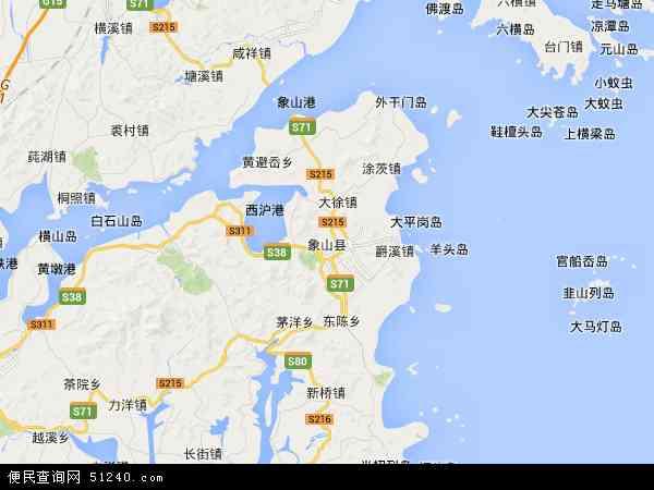 象山县地图 - 象山县卫星地图