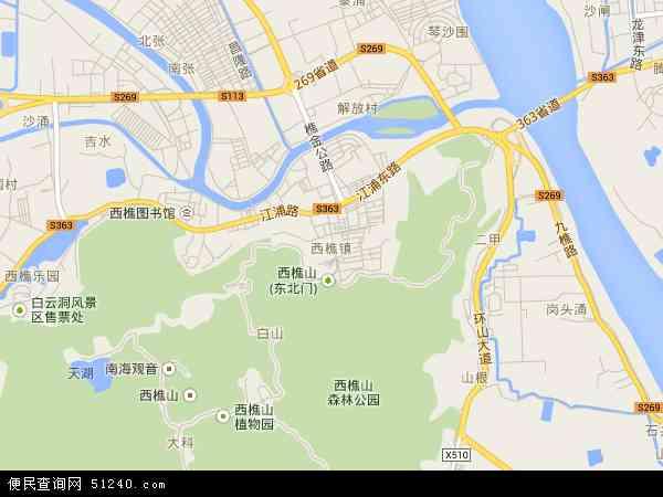 西樵镇地图 - 西樵镇电子地图