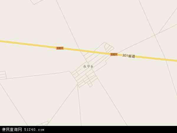 中国吉林省松原市扶余市永平乡地图 卫星地图