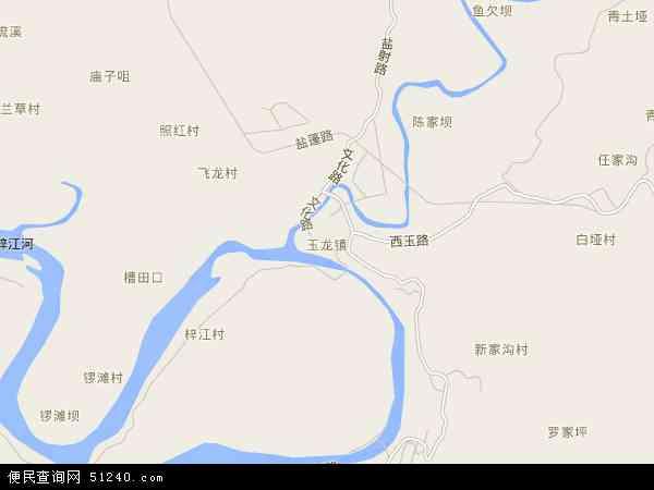 玉龙镇地图 - 玉龙镇电子地图 - 玉龙镇高清地图 - 2017年玉龙镇地图