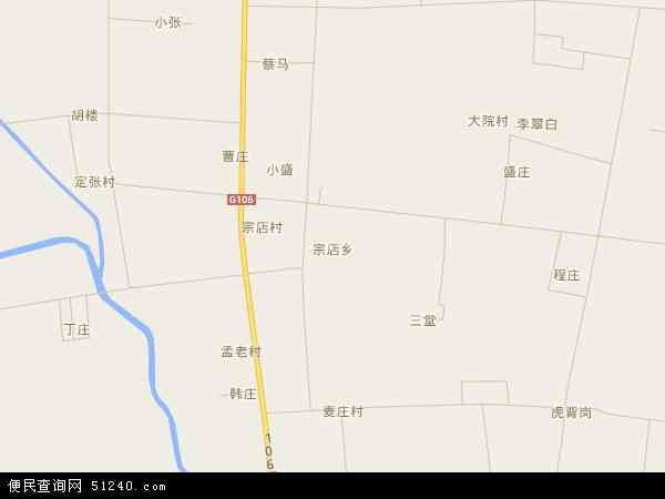 中国河南省开封市杞县宗店乡地图(卫星地图)图片