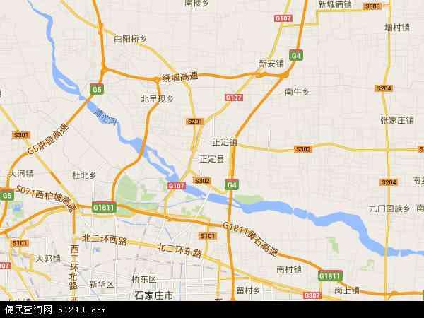 中国河北省石家庄市正定县地图(卫星地图)