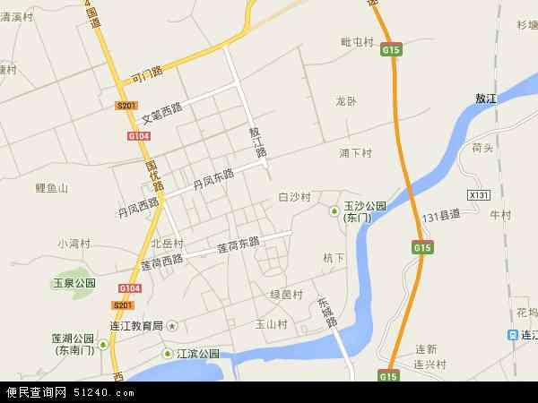 中国福建省福州市连江县敖江镇地图(卫星地图)