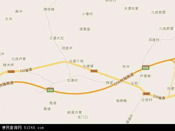 2017北港镇地图高清版,北港镇电子地图,2016北港镇地图 北港镇地形图