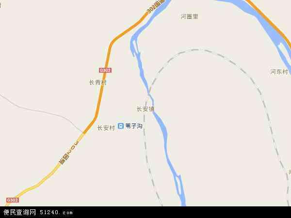 中国吉林省延边朝鲜族自治州图们市长安镇地图
