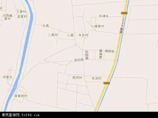 中国山东省滨州市无棣县车王镇地图(卫星地图)