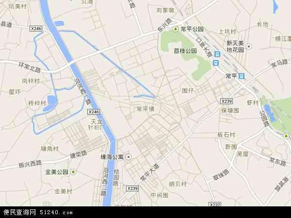 常平社区地图 - 常平社区电子地图