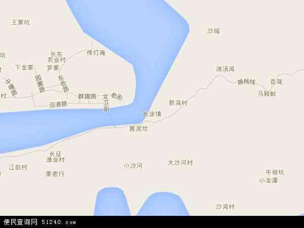中国浙江省舟山市岱山县长涂镇地图(卫星地图)