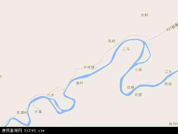 中国广西壮族自治区柳州市融安县大将镇地图