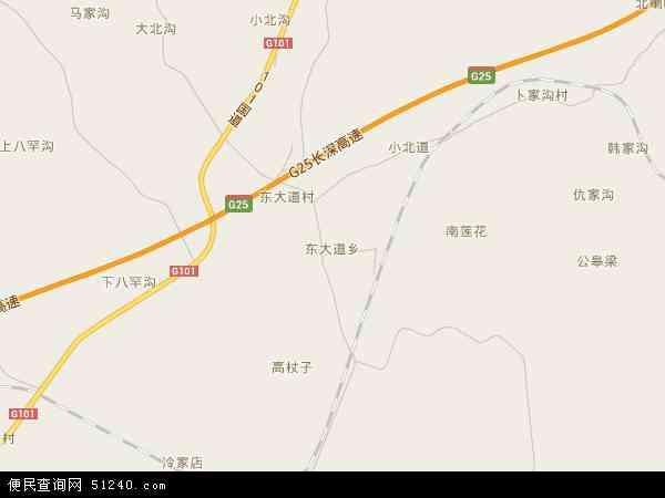 中国辽宁省朝阳市朝阳县东大道乡地图(卫星地图)