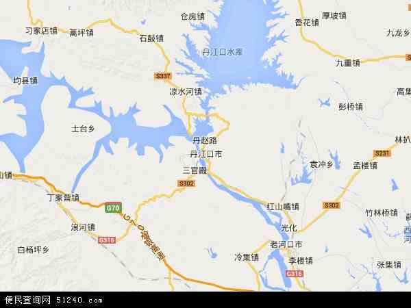 丹江口市地图 - 丹江口市卫星地图