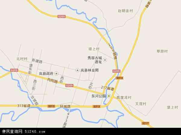 东村镇高清卫星地图 东村镇2016年卫星地图 中国山西省吕梁市岚县图片