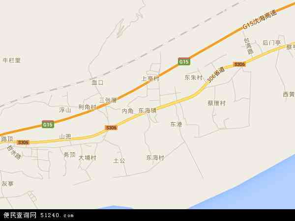 中国福建省莆田市城厢区东海镇地图(卫星地图)