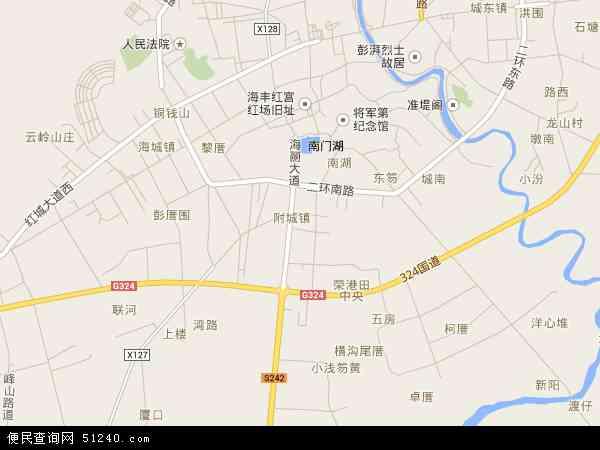 中国广东省汕尾市海丰县附城镇地图(卫星地图)