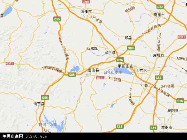 卫星地图 滚子营乡2015年卫星地图 中国河南省平顶山市鲁山高清图片