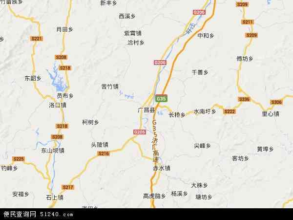广昌县地图 - 广昌县卫星地图图片
