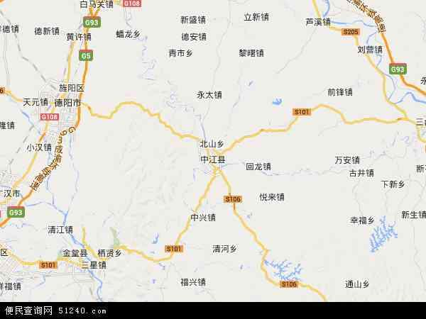 中江地图全图高清版