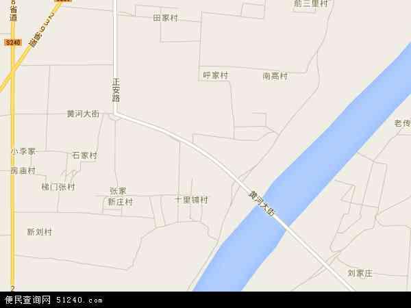 黄河镇地图 - 黄河镇卫星地图