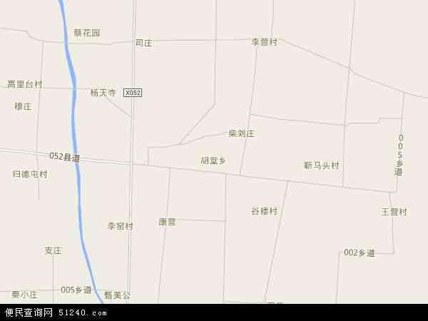 中国河南省商丘市睢县胡堂乡地图(卫星地图)