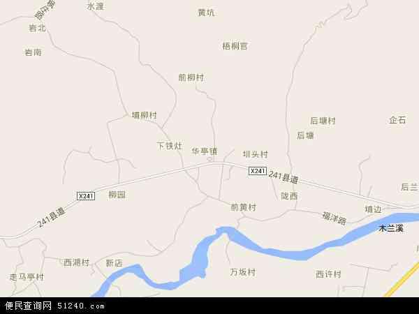 中国福建省莆田市城厢区华亭镇地图(卫星地图)