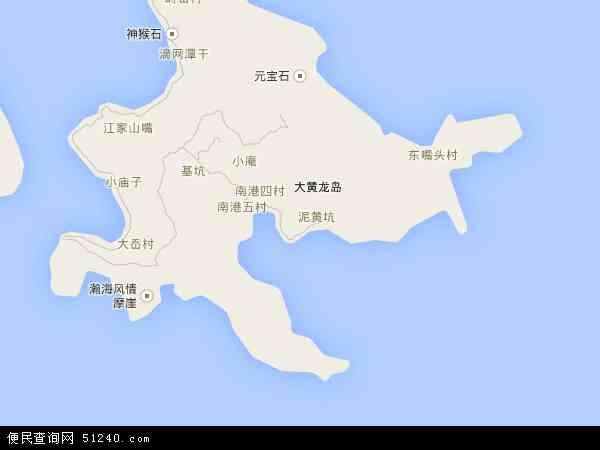 中国浙江省舟山市嵊泗县黄龙乡地图(卫星地图)