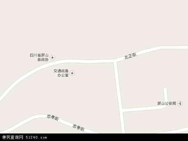 中国四川省宜宾市屏山县锦屏镇地图(卫星地图)