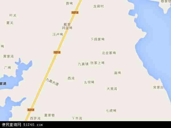 中国湖北省省直辖县级行政区划天门市九真镇地图(卫星地图)