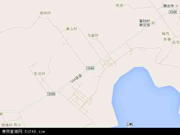 中国福建省漳州市东山县康美镇地图(卫星地图)