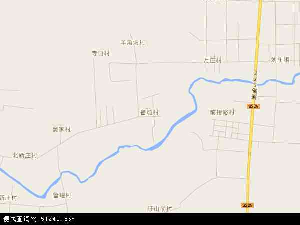 中国山东省临沂市苍山县鲁城镇地图(卫星地图)