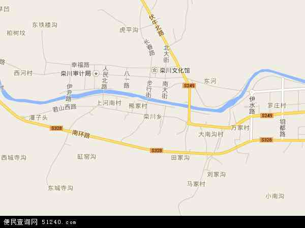 中国河南省洛阳市栾川县栾川乡地图(卫星地图)图片