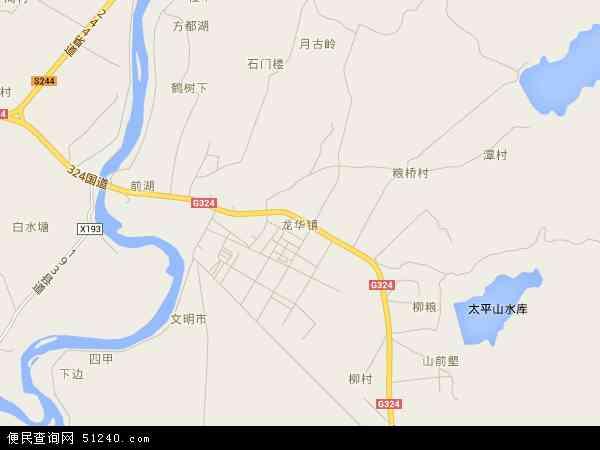 中国广东省惠州市博罗县龙华镇地图(卫星地图)