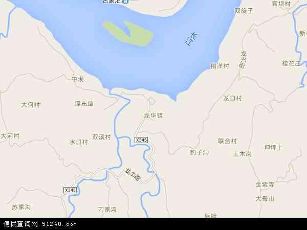 中国重庆市江津区龙华镇地图(卫星地图)