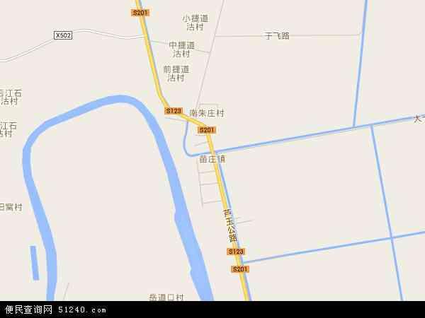 苗庄镇地图 - 苗庄镇卫星地图