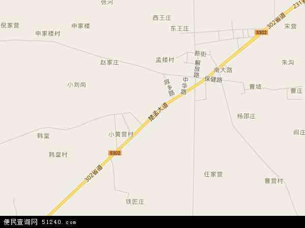 中国湖北省襄阳市老河口市孟楼镇地图(卫星地图)