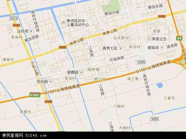中国上海市奉贤区南桥镇地图(卫星地图)