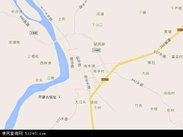 中国广东省肇庆市封开县南丰镇地图(卫星地图)